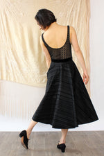 Taffeta Ribbon Circle Skirt M