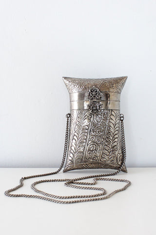Pewter Pillow Purse
