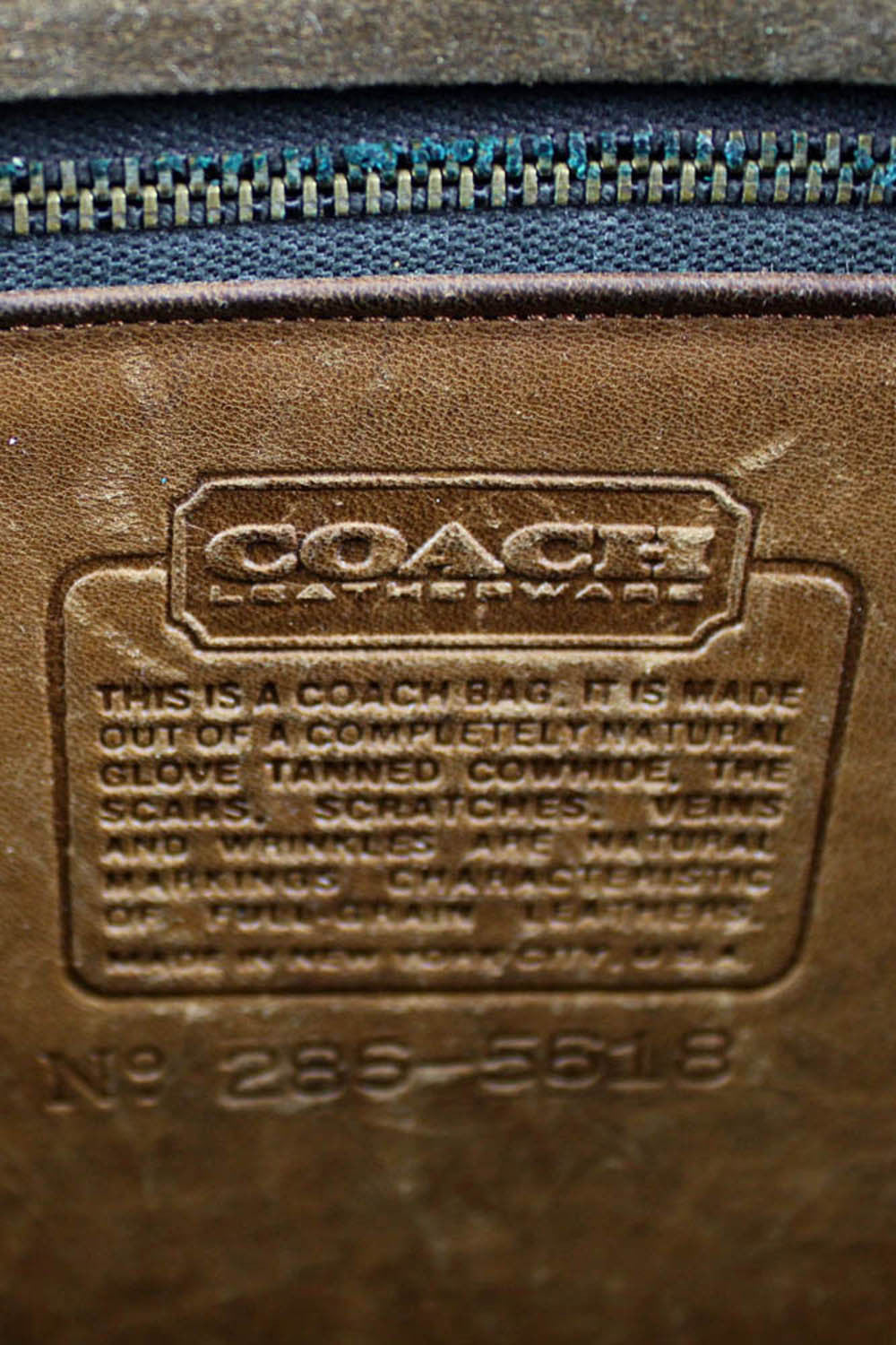 Coach NYC satchel