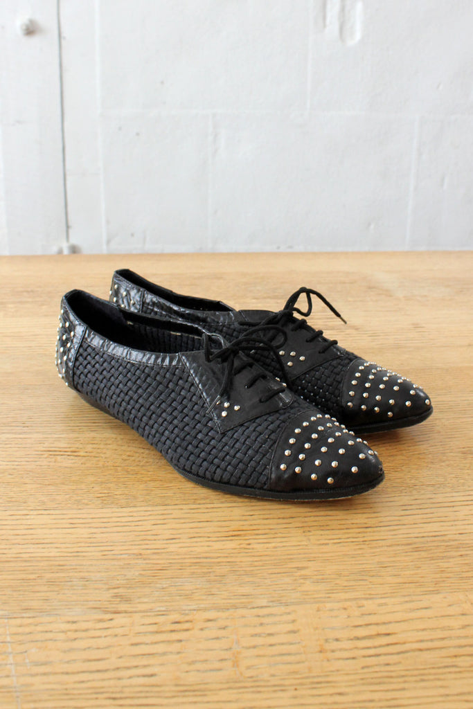 Studded Woven Tosoni Shoes 8 1/2