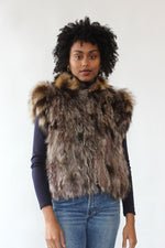 Raccoon Fur Convertible Coat S/M