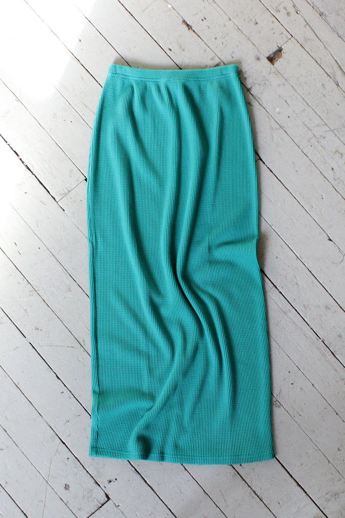 Teal Thermal Wiggle Skirt S/M