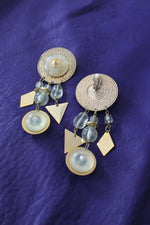 Frosted Medallion Statement Earrings