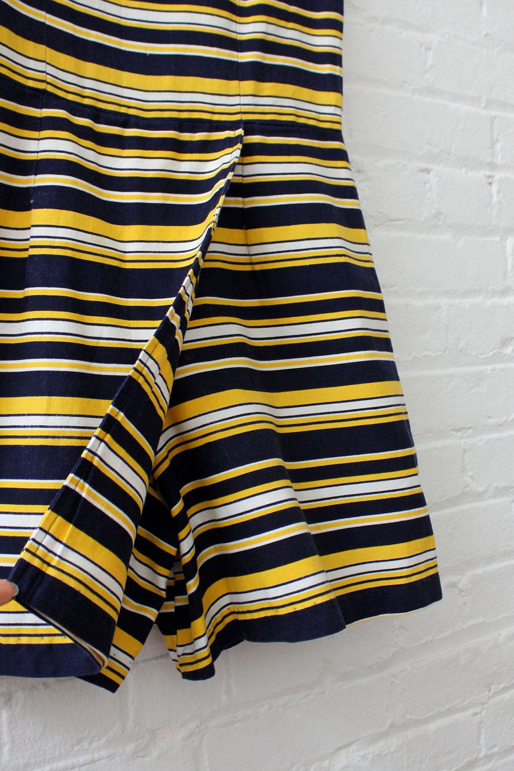 Navy Gold Striped Playsuit M
