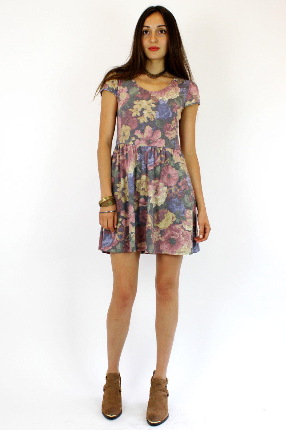 faded floral babydoll S/M