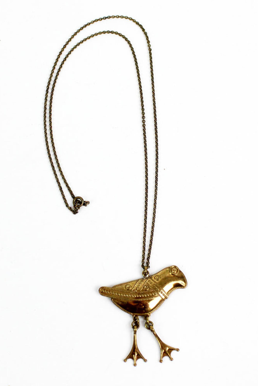 70s frog necklace