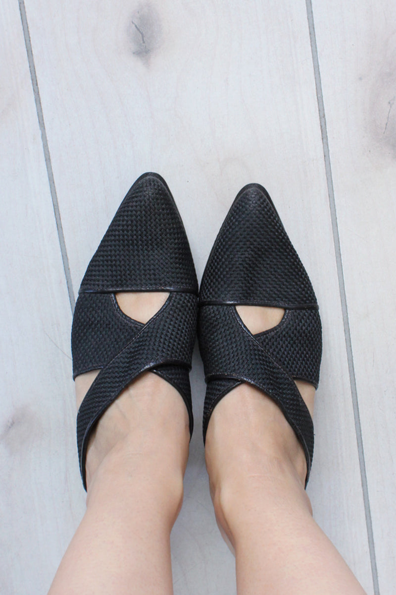 Greater LA Criss Cross Heels 7.5-8