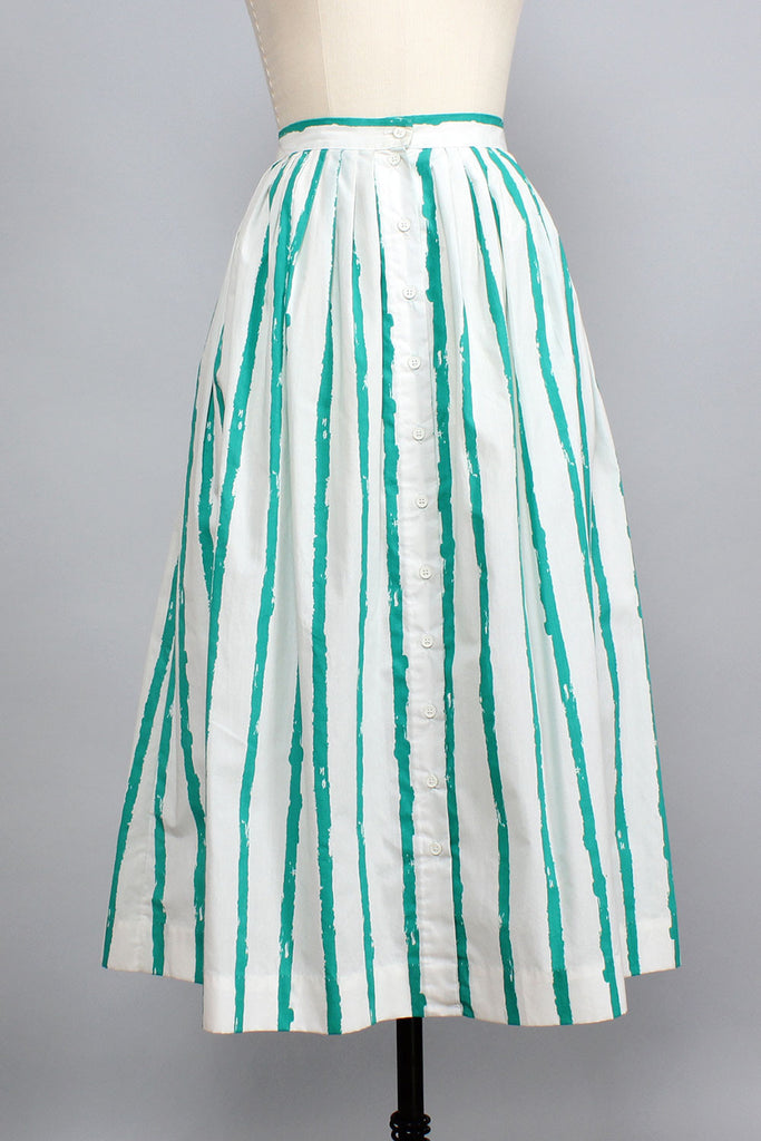 Still Waters Striped Full Skirt M