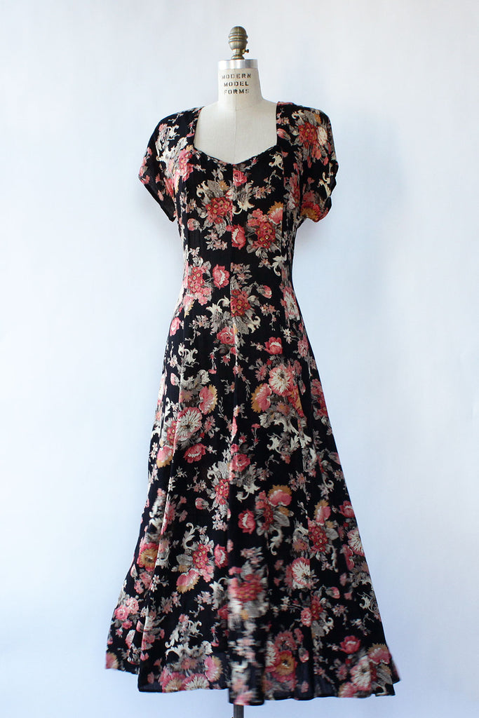 Serenade Scoop Floral Dress M/L