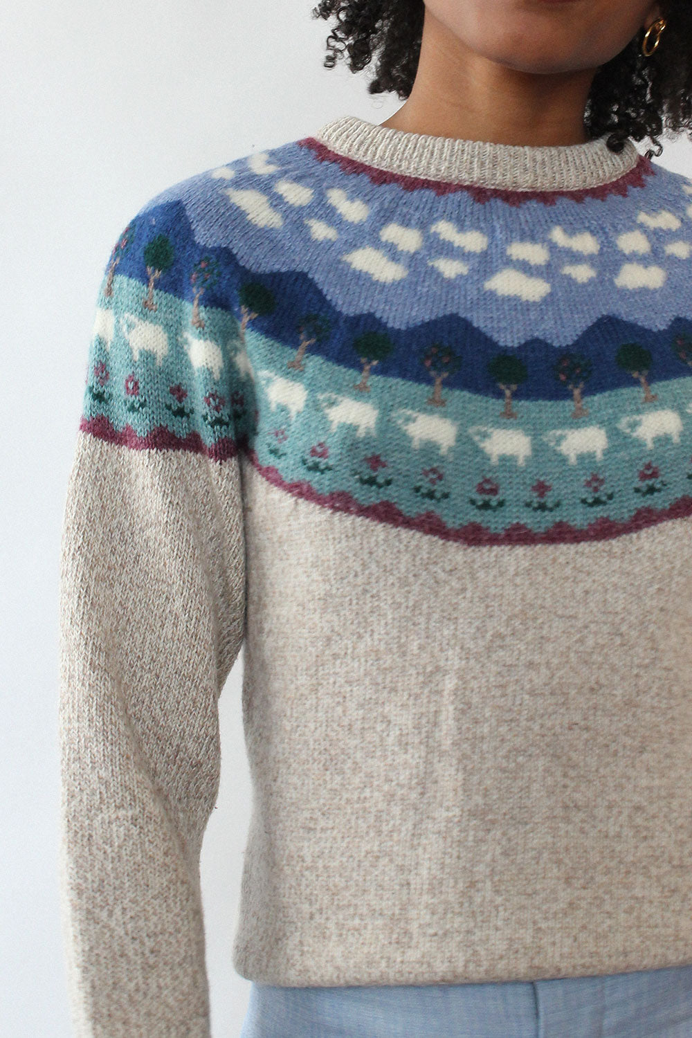 Counting Sheep Sweater XS-M