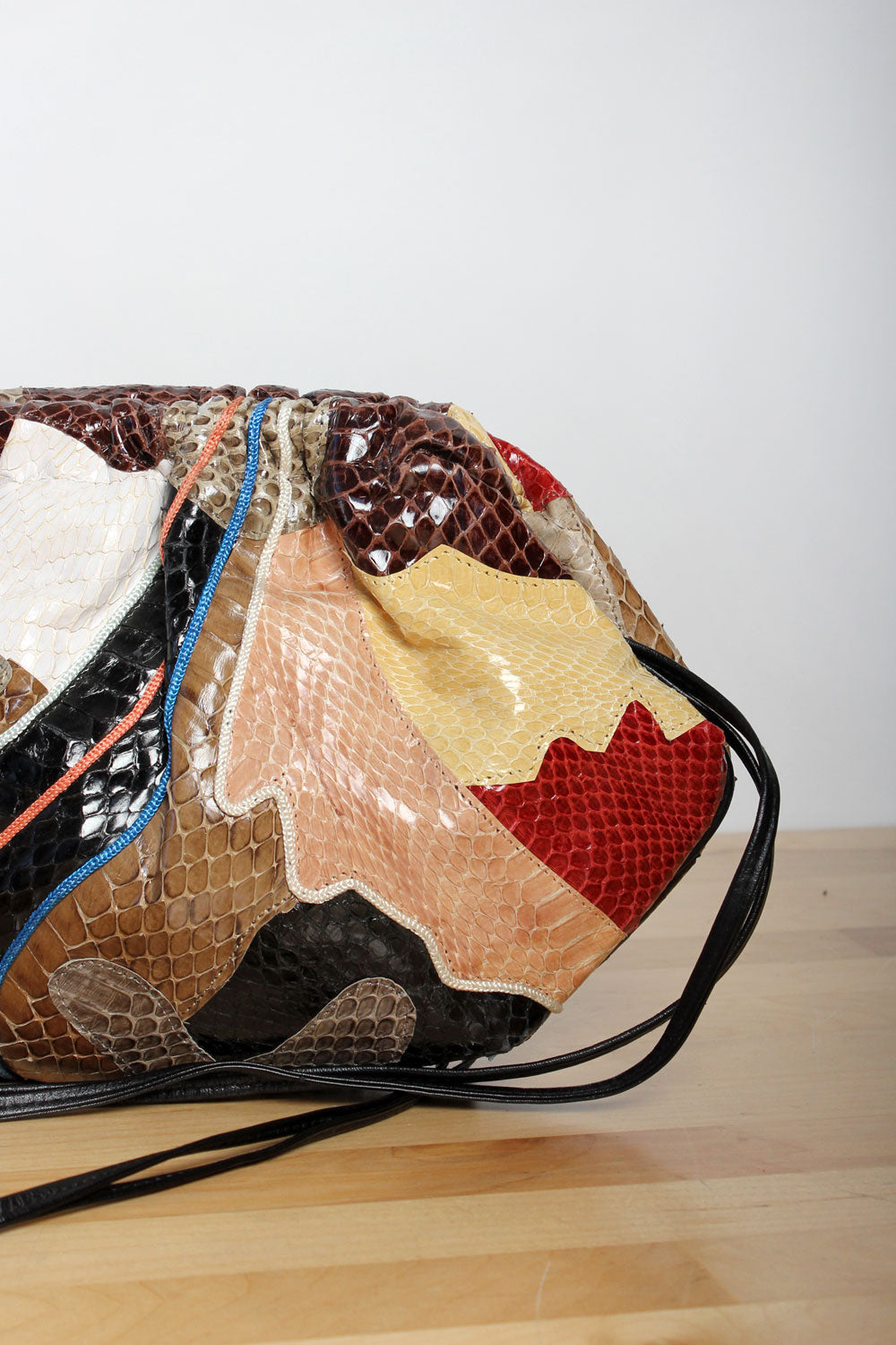 Symbiotic Snakeskin Collage Bag
