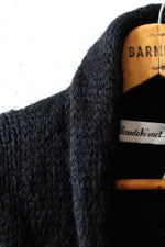 Black Mohair Sweater Coat