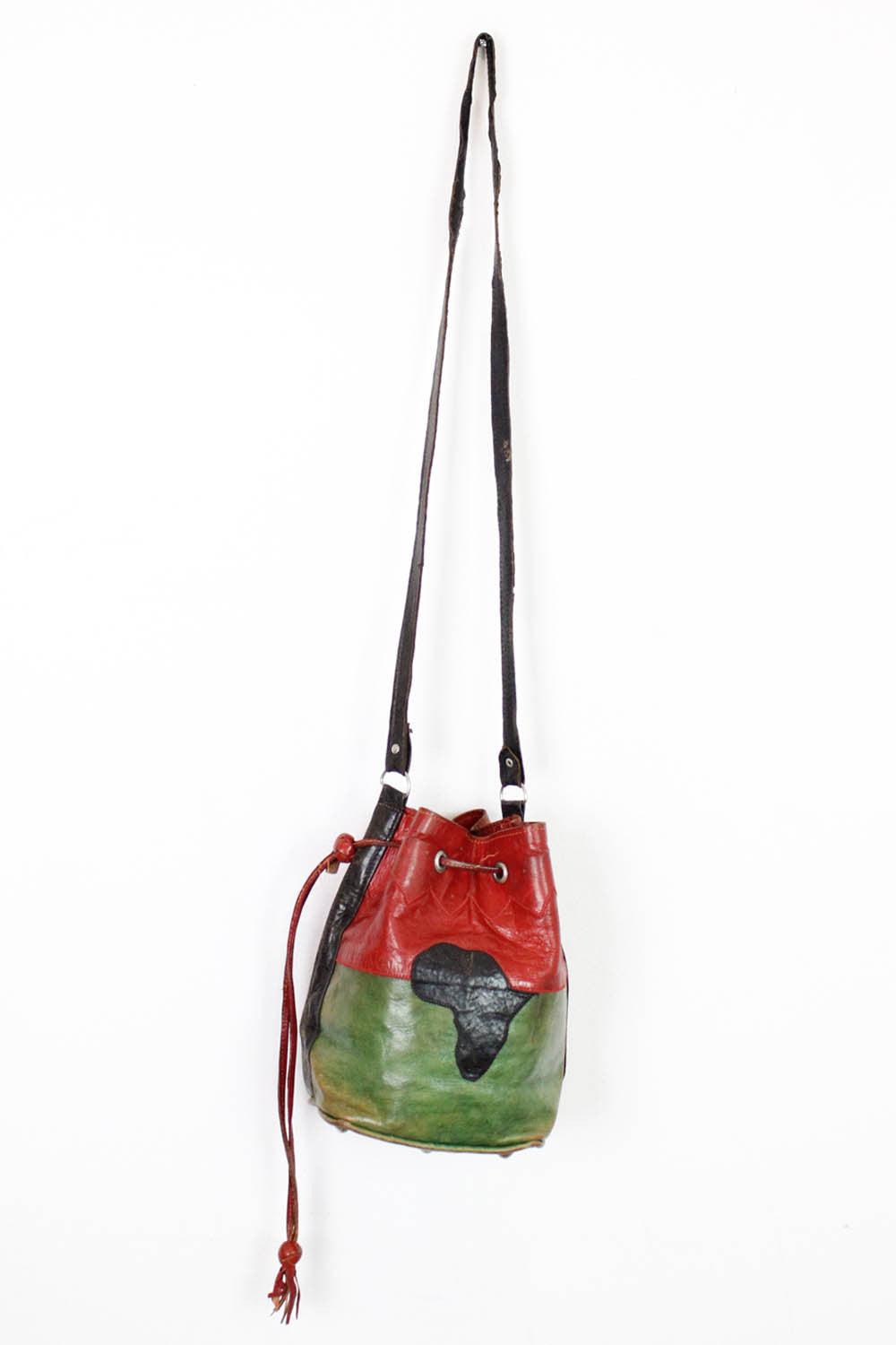 Africa Leather Bucket Bag