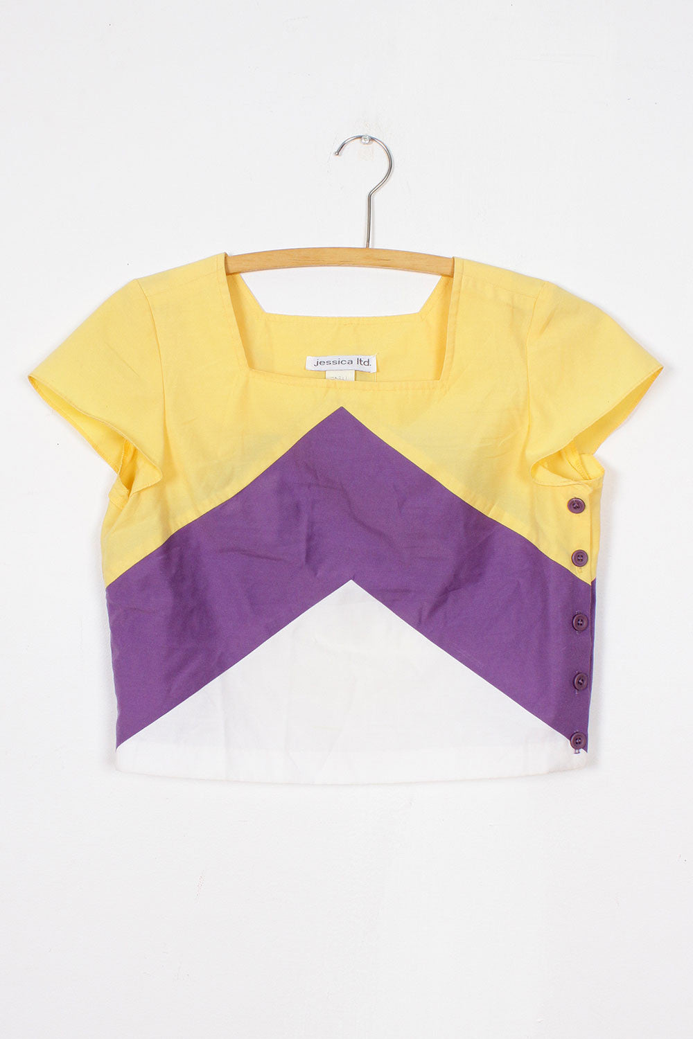 Cropped Colorblock Top M