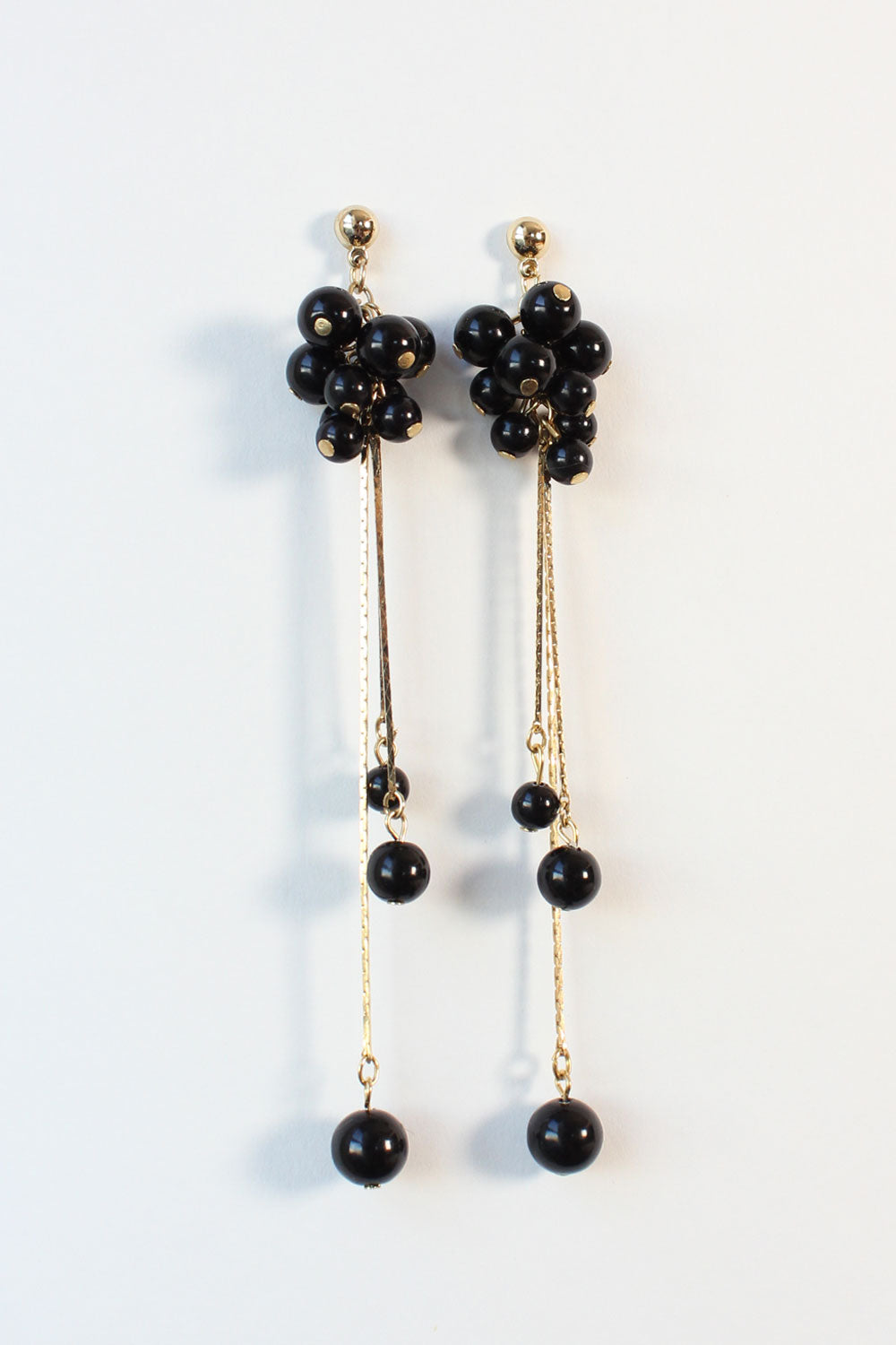 Black Bead Bundle Earrings