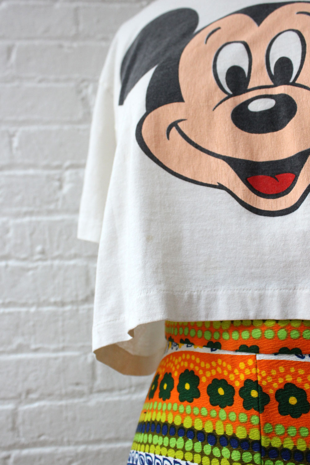 Mickey Mouse Crop Tee S-L