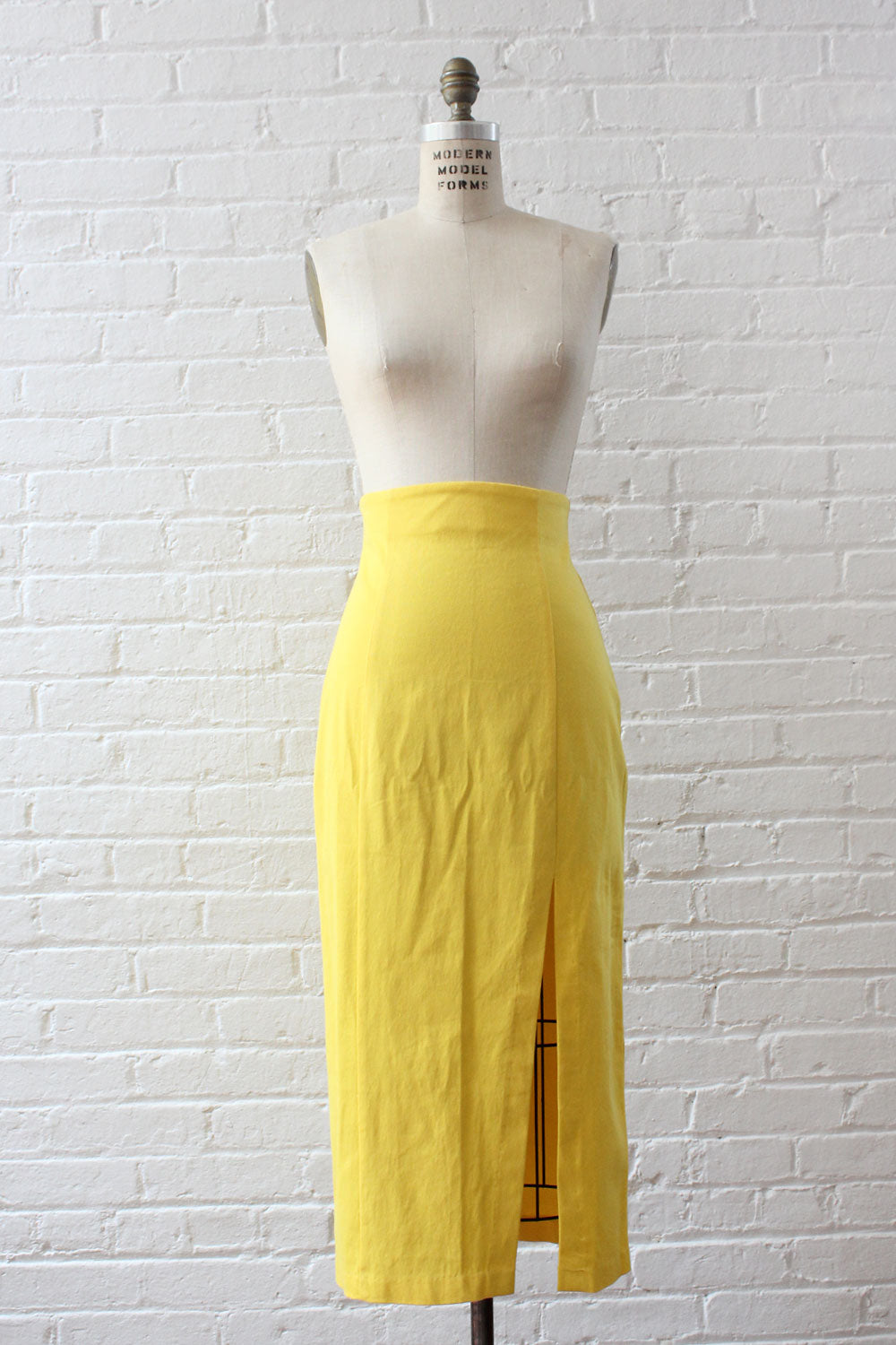 Lemon Wiggle Skirt M/L