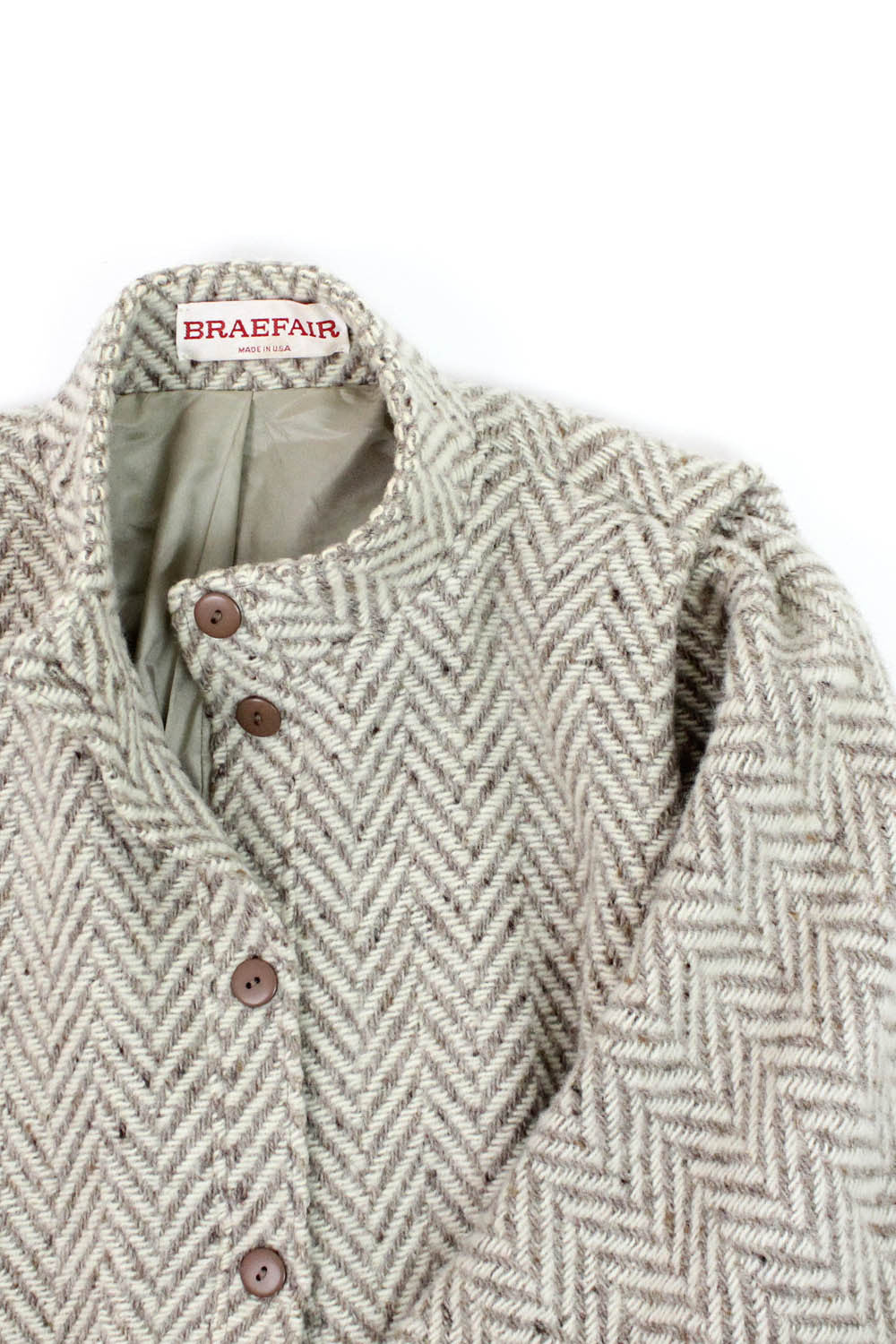 Braefair Batwing Chevron Wool Coat M