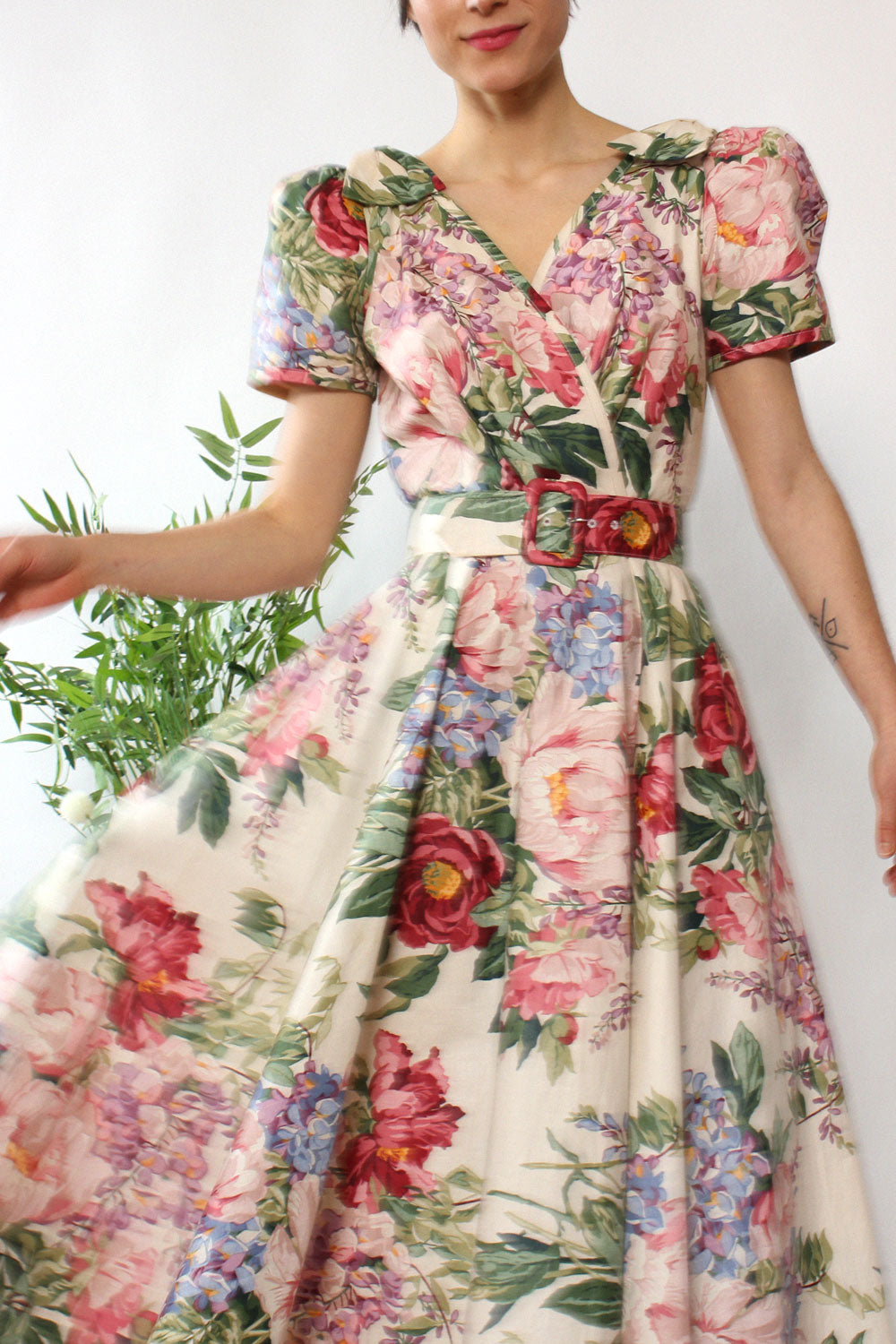 English Garden Party Dress S/M