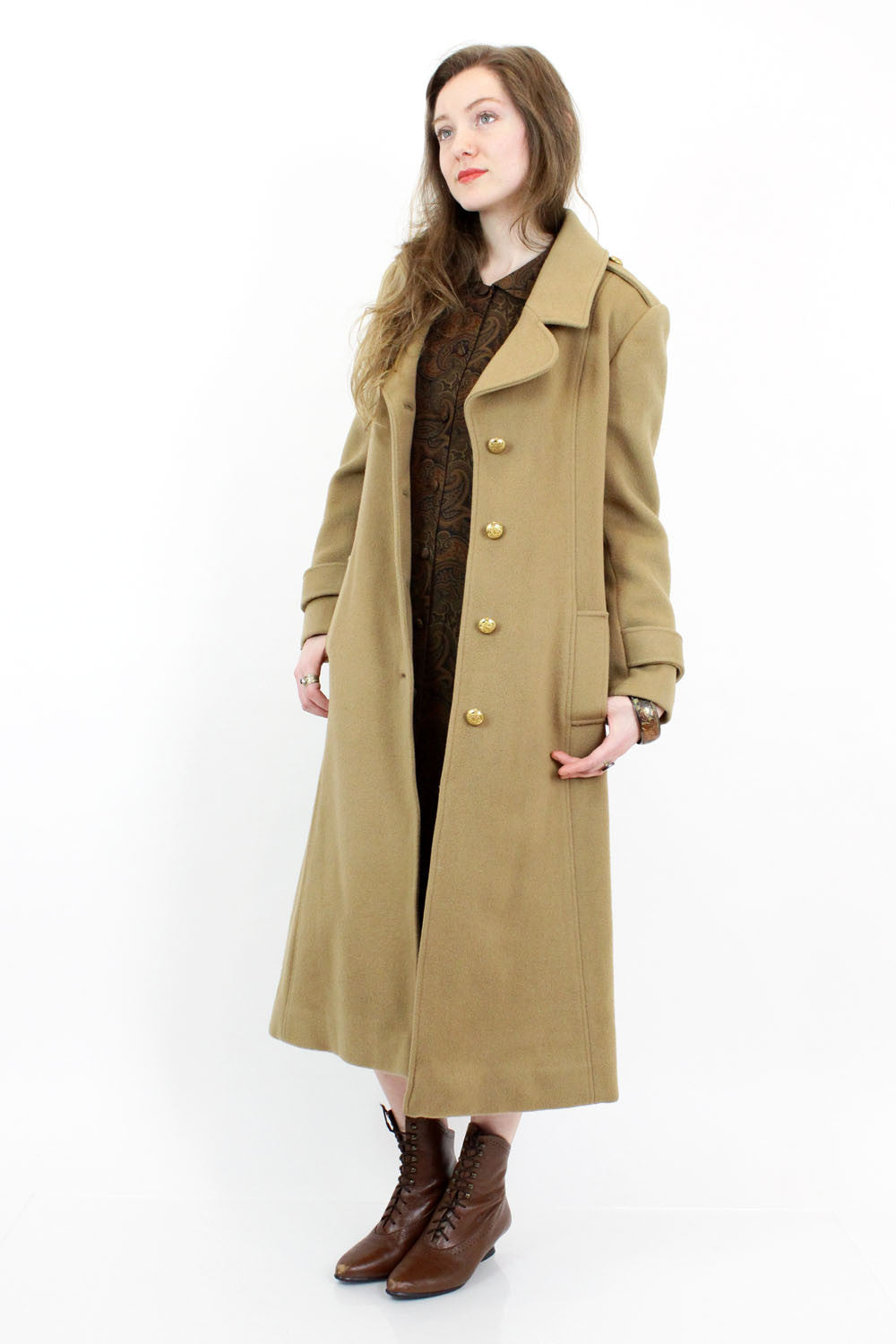 SALE... Adolfo Camel Princess Coat S/M