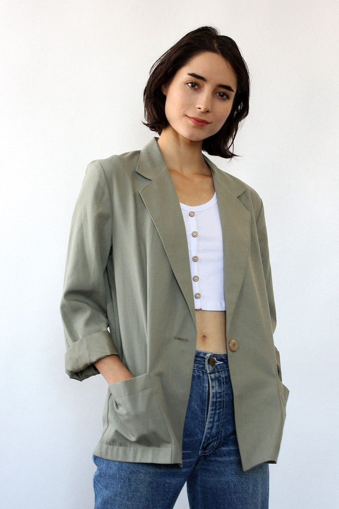 Green Tea Boxy Blazer S/M