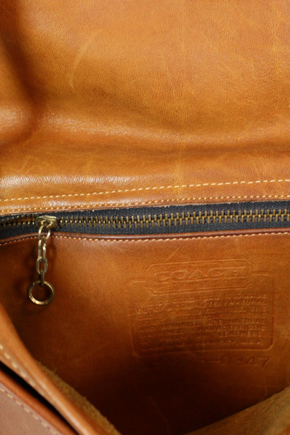 Coach 1970s distressed chestnut satchel bag