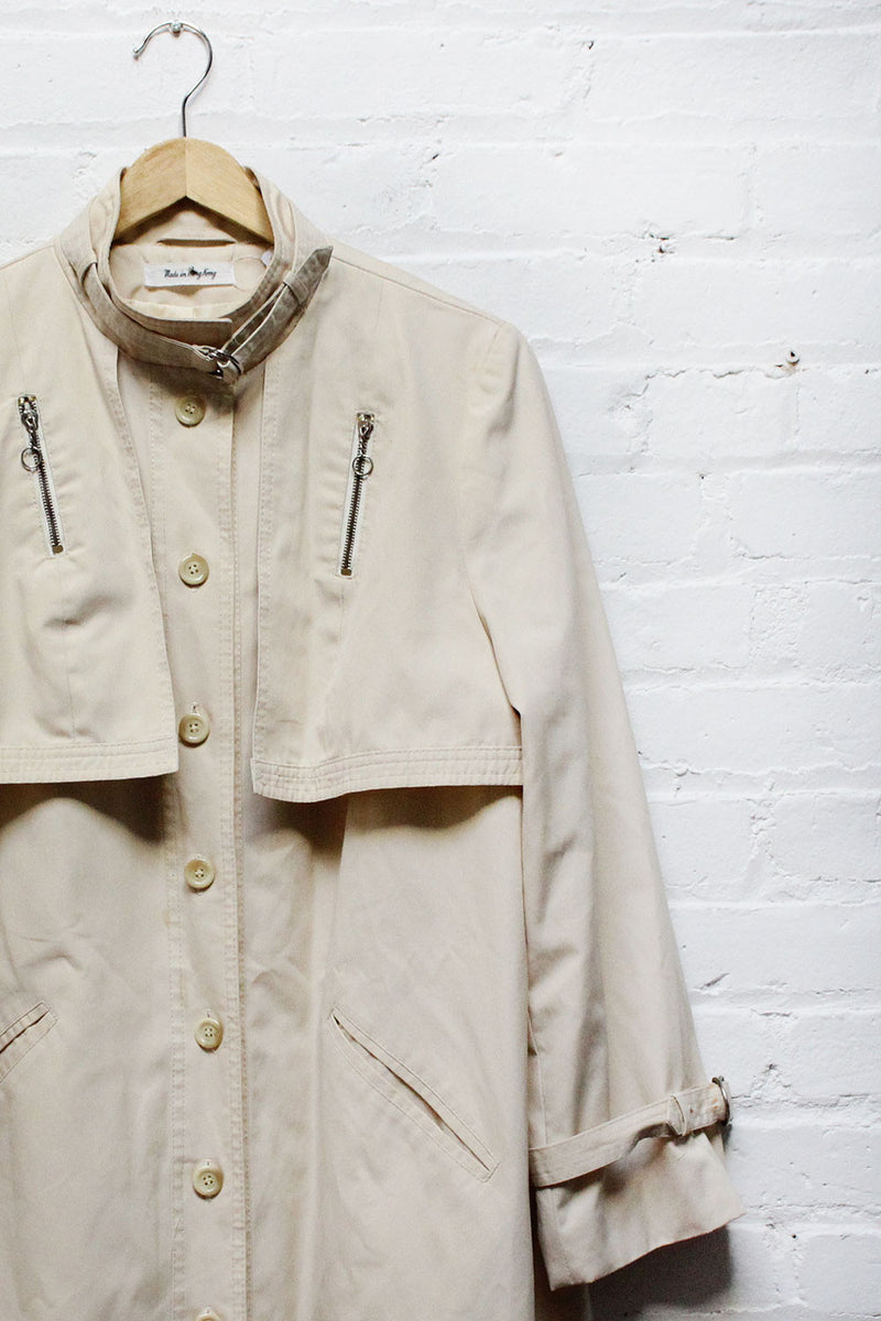Ivory Swing Trench Coat M