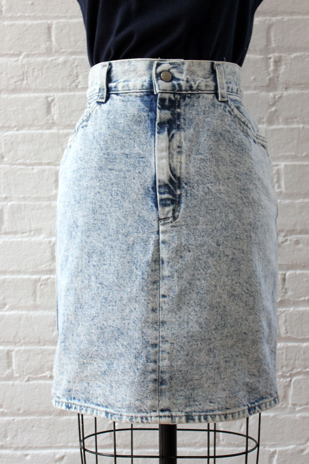 Stonewash Fitted Skirt S