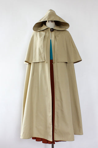 New Old World Hooded Trench Cape