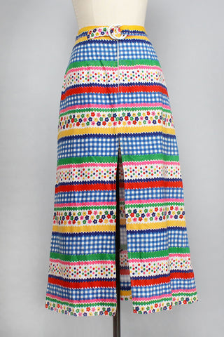 Carousel Collage Skirt S