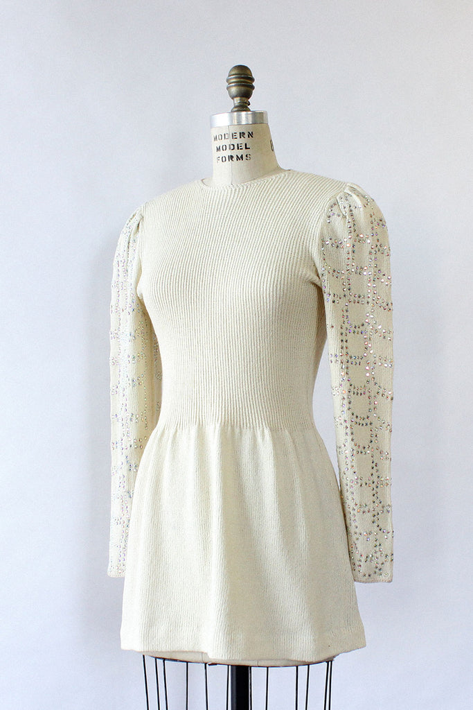 Bedazzled Ivory Skate Dress XS/S