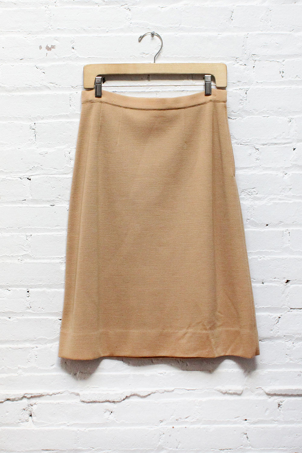Camel Knit Skirt M