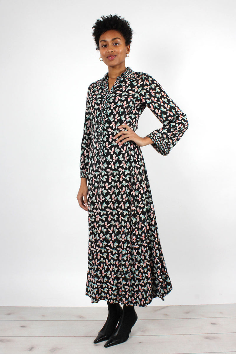 Whimsical Floral Caftan Dress XS/S