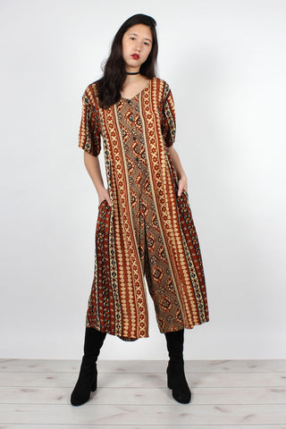 Metallic Tiger Caftan Dress XS/S