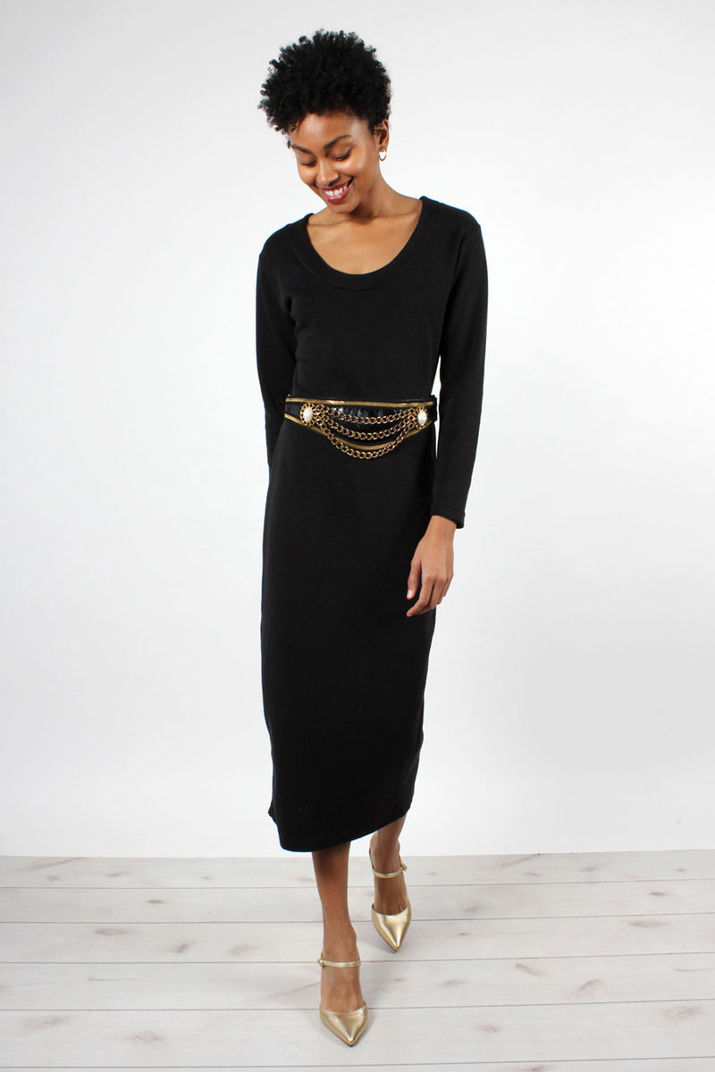 Ribbed Knit LBD M