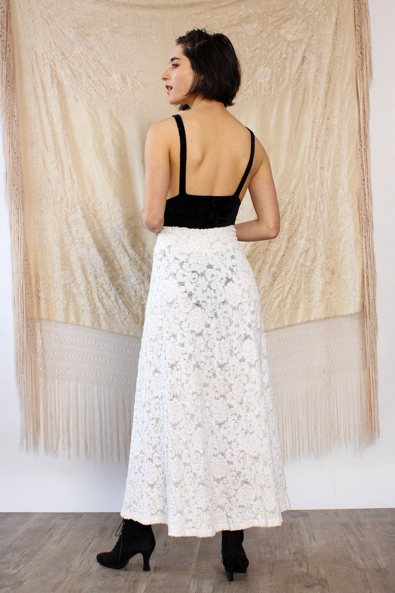 Bettina Riedel Lace Knit Maxi S-L