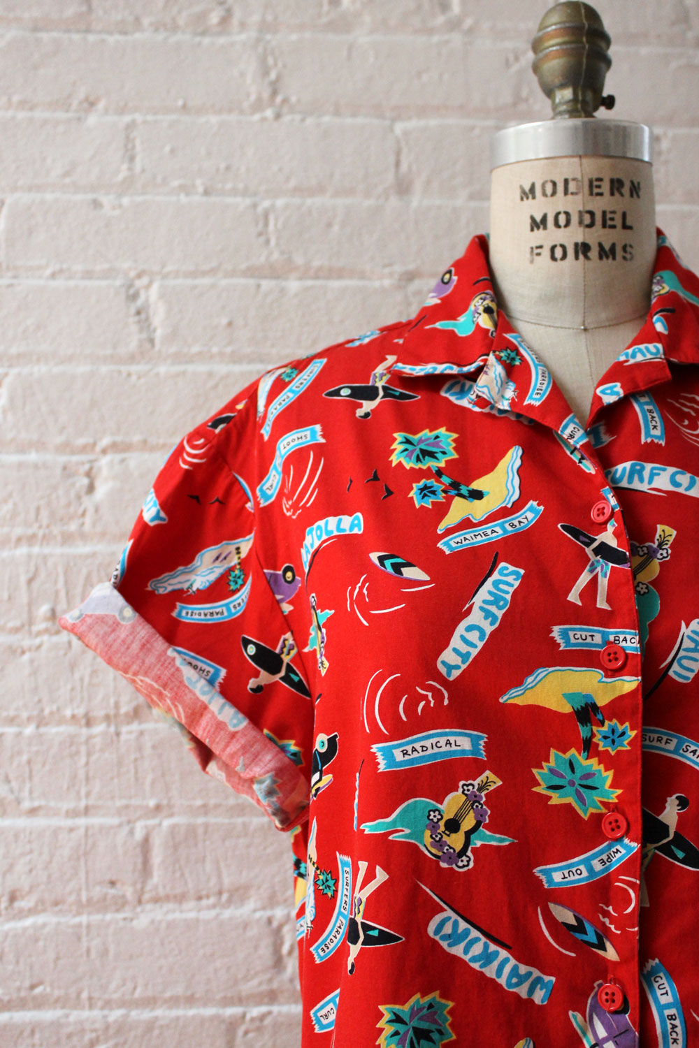 Surf City Crop Buttondown S/M