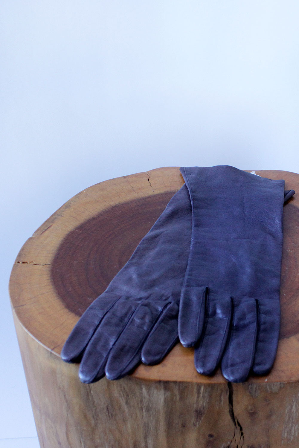 Deep Purple Leather Gloves XS
