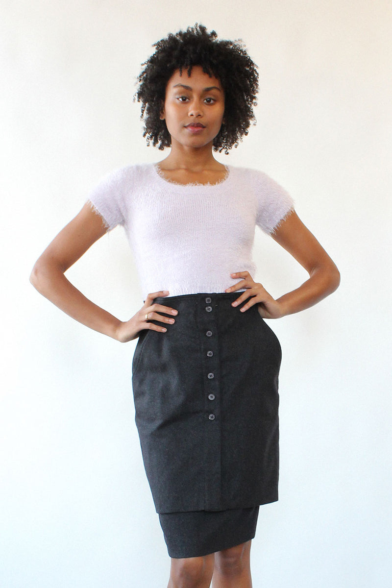 Basile Double Tiered Pencil Skirt S/M