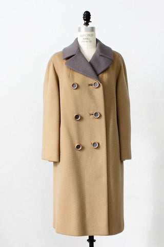 Mauve + Camel Tailored Coat M