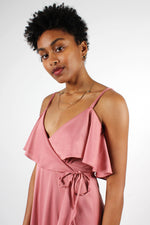 Rose Ruffle Wrap Dress XS-M