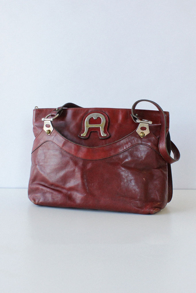 Aigner Cordovan Leather Purse