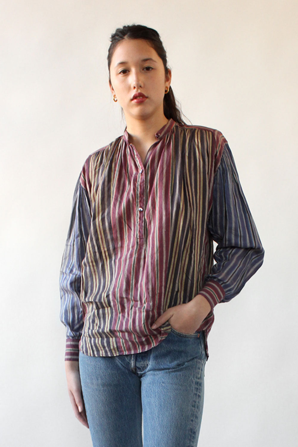 Kenzo Striped Linen Top S