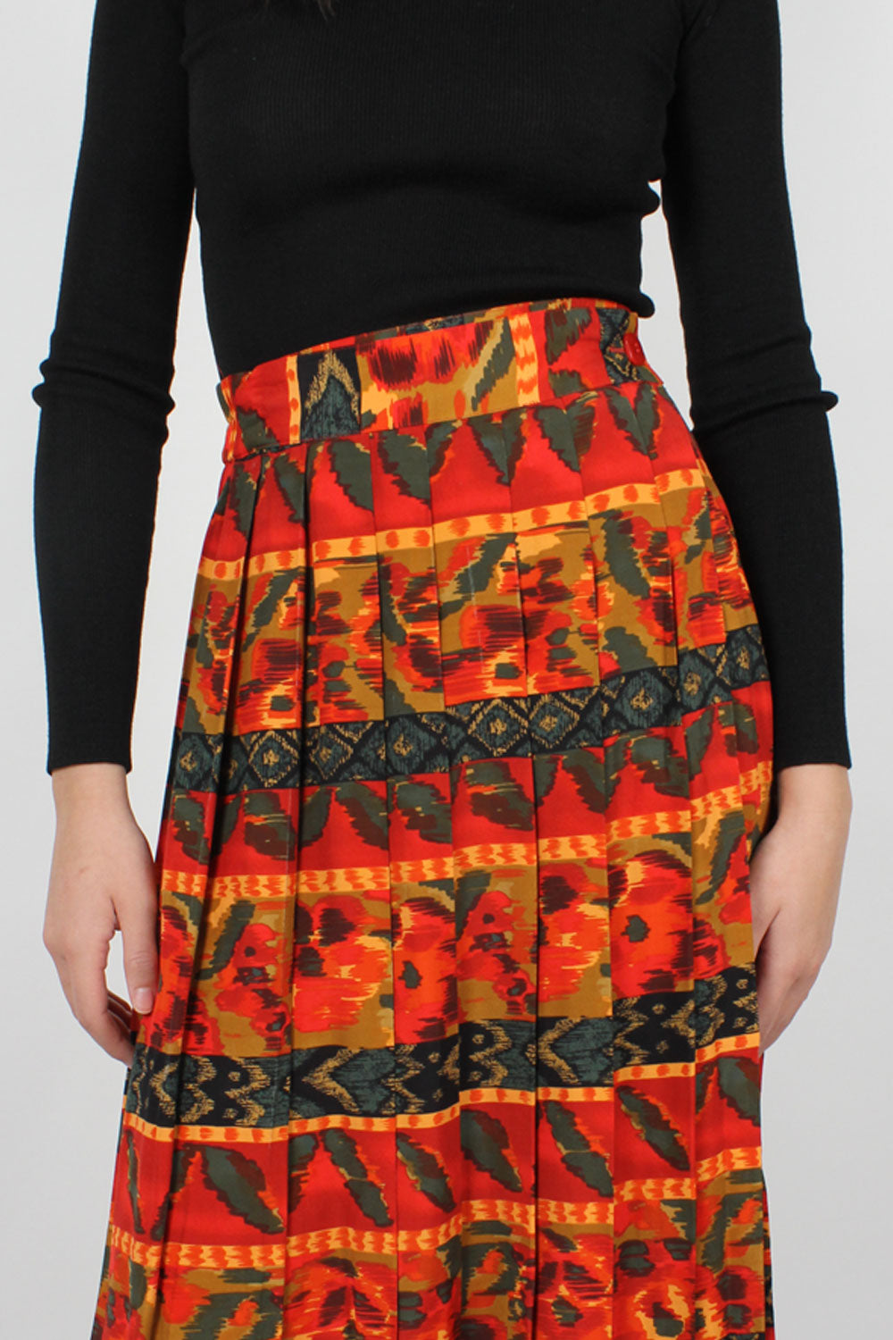 Campania Pleated Midi Skirt M/L