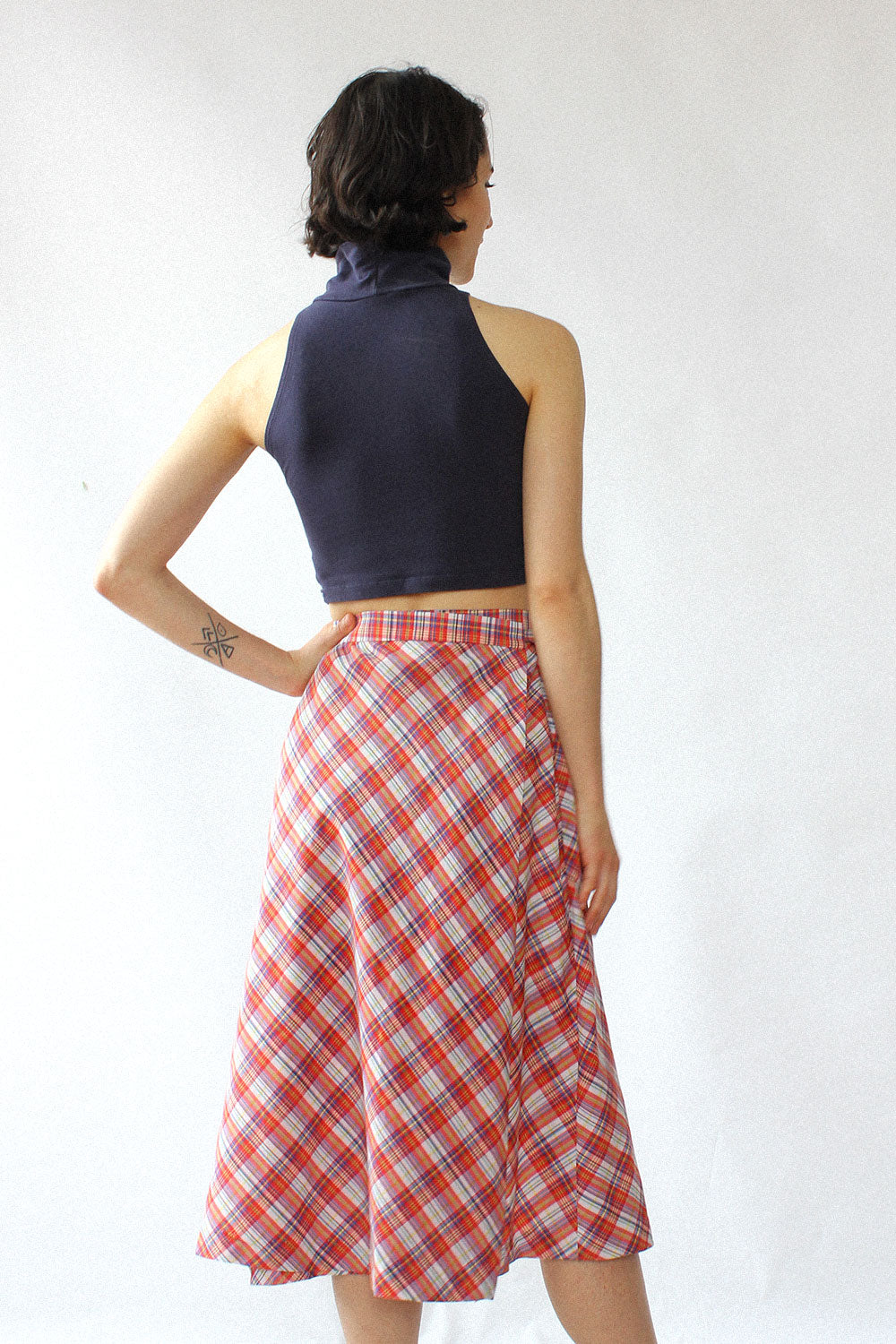 RWB Plaid Wrap Skirt S-L