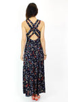 Navy Criss Cross Maxi Dress M