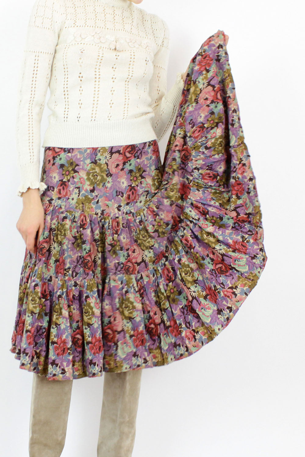 Sale / Dusty Rose Prairie Skirt XS/S