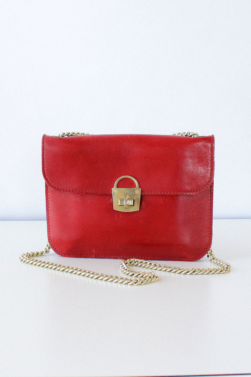 Ruby Leather Envelope Purse