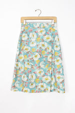 Aqua Berry Wrap Skirt