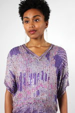 Lavender Beaded Silk Ensemble S/M